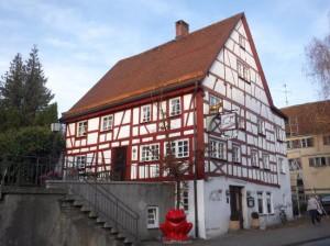 Fassadenrenovierung denkmalgeschütztes Fachwerkhaus, Laupheim