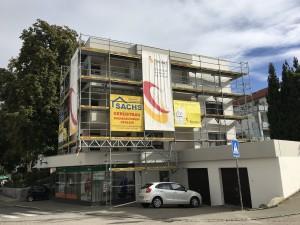 Fassadenrenovierung Wohn- und Geschäftshaus, Laupheim